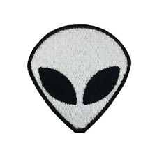 Alien Patch Embroidered White Face Iron on Patch Bag Patches