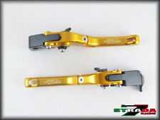 Strada 7 CNC Short Folding Adjustable Levers Buell XB12R XB12Ss 2009 Gold