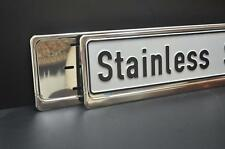 2 x CHROME STAINLESS STEEL NUMBER PLATE SURROUNDS HOLDERS FRAMES  - PEUGEOT