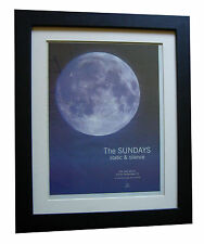 THE SUNDAYS+Static Silence+POSTER+AD+RARE ORIGINAL 1997+FRAMED+FAST GLOBAL SHIP