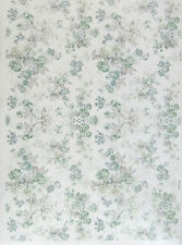 Rice Paper for Decoupage, Scrapbook Sheet, Craft Paper Ice Blue Flowers M