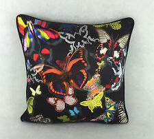 """Designers Guild Christian Lacroix Cushion Cover 'Butterfly Parade Oscuro 17""""x17"""""""
