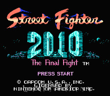 Street Fighter 2010 The Final Fight -NES Nintendo Game