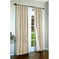 Thermalogic Energy Efficient Insulated Solid Tab-Top Curtain Pair 80X95 Natural
