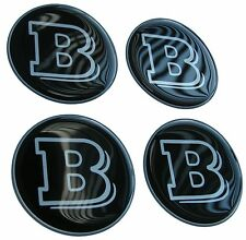 SMART / MERCEDES Brabus decal 3D resin domed black/silver (SET OF FOUR)