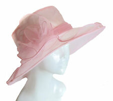 Large Hat Fascinator Weddings Ladies Day Race Royal Ascot Hatinator Brim Organza