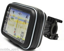 "Bike/Motorcycle Handlebar Mount & Case for Garmin Nuvi Magellan 3.5"" 4.3"" GPS"