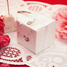 20 Traditional Love Dove Heart Favor Boxes Thank You Charm & Ribbons Kit Wedding