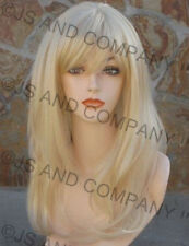Luscious Long Blonde Straight Wig Layered Full Bangs JSCY 613