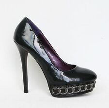 Sexy Damen Plateau High Heels Stilettos Pumps Lack 37 Schwarz Shoes 9446-P.