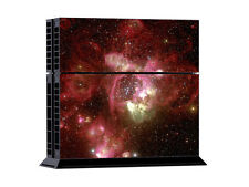 Sony PS4 Console and Controller Skins -- Red Space Design Nebula (#392)