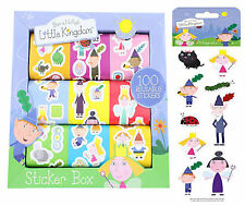Ben & Holly's Little kingdom 100 reusable stickers, and Character Magnets
