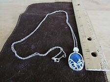 Blue Stone Pendant Necklace The Vampire Diaries Antisunlite Katherine US Seller