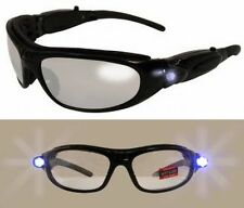 Hi-Beam Padded Safety Glasses Z87.1-LED TEMPLE LIGHTS Flashlight-FREE SHIPPING