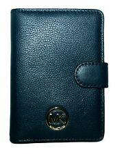 NWT MICHAEL KORS FULTON NAVY BLUE LEATHER PASSPORT CASE ID TRAVEL WALLET
