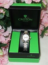 Croton Aquamatic Stainless Steel gold Bracelet WHITE Dial Watch CA201228 NEW