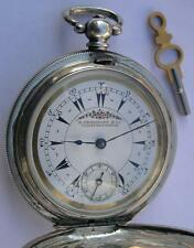 SILVER BILLODES/ZENITH KEY WIND POCKET WATCH SWISS 1860's-OTTOMAN EMPIRE MARKET