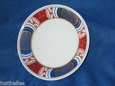 Fitz and Floyd 1975 NISHIKI Saucers -SET of TWO (2)   Blue, Rust,