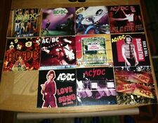 "AC/DC * RARE SET OF 11 AUSSIE SLEEVES for AUSSIE SINGLES - 7""  RECORD DREAMS"