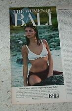1979 ad - BALI bra SEXY girl skinny-dipping lingerie vintage PAPER ADVERT
