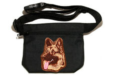 Embroidered Dog treat pouch/bag - for dog shows. Breed - German Shepherd