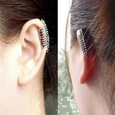 1X Leaf Tassel Earring Cuff Metal Wrap Clip Ear Stud Earring Jewelry For Girl HF