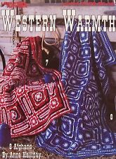Crochet Afghan Patterns Western Warmth 8 designs by Anne Halliday NEW