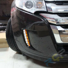 For 11-14 Ford Edge LED Daytime Running Lights White/Amber DRL Bumper Fog Lamp