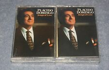 NEW SEALED - Placido Domingo - Songs Of Love Two Cassette Tape Set - MINT