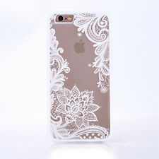 Ultra Thin Lace Tribal Mandala Clear Soft TPU Case Cover For iPhone 5s 6s 7 plus