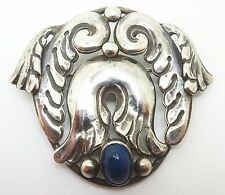 La Paglia Sterling Brooch with Genuine Natural Labradorite (#3361)