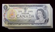 BANK OF CANADA 1973 $1 NOTES BC-46a  NiceAU+ to UNC 10 PCS LOT
