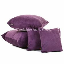 New Soft Luxury Crushed Chenille Velvet Fabric Designer Cushion Covers & Filling