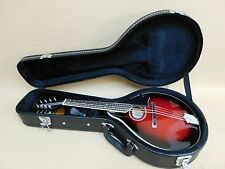 Caraya MA002 A-Style Mandolin Black Cherry + HARD Case