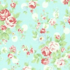 Cottage Shabby Chic Lecien Princess Rose Floral 31265L-70 Blue w/Dots BTY