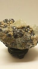 Lite Green Fluorite Crystals Sitting on Golden Pyrite and Galena Crystals 7lbs