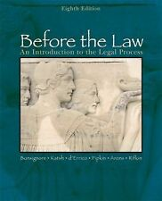 Before the Law : An Introduction to the Legal Process by Stephen Arons,...