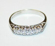 Beautiful 18ct White Gold Victorian Style 5-Stone Diamond Ring Size M
