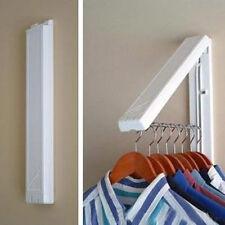 Stainless Folding Wall Hanger Mount Retractable Clothes Indoor Hangers Rack