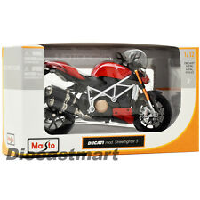 MAISTO 1:12 DUCATI MOD STREETFIGHTER S NEW DIECAST MODEL MOTORCYCLE BLACK/RED