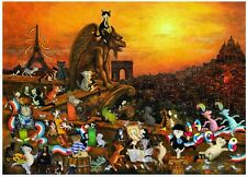 NEW! Heye Cats in Paris 1000 piece comic cartoon jigsaw puzzle