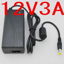 AC/DC LED Power supply Adapter Charger 12V 3A 36W for 5050/3528 LED Light CCTV