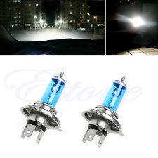 2pcs H4 55W Halogen Light Bright White Car Headlight Bulbs Bulb Lamp 12V 5000K