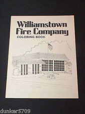 1983 WILLIAMSTOWN NJ FIRE COMPANY VINTAGE COLORING BOOK COVERS SAFETY & FIREMEN