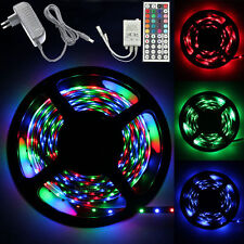 5M RGB 300SMD Flexible LED Strip Light+44 key Remote Controller+2A Power Supply