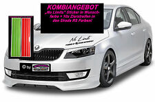 No Limits by Skoda Motorsport Sport Mind Aufkleber Sticker+10x RS  Zierstreifen