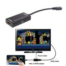Micro USB HDTV MHL HDMI Adapter 5 to11 Pin Converter for Samsung Galaxy Note TR