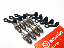 Genuine Brembo Bleed Screws x8 and Dust Caps x8 for Porsche Calipers