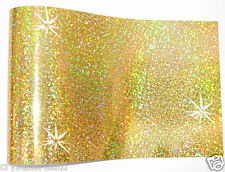 GOLD iron-on hot-fix spangle sequin sheet crafts arts