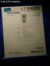 Sony Service Manual ICD B16 /B26 IC Recorder (#5375)
